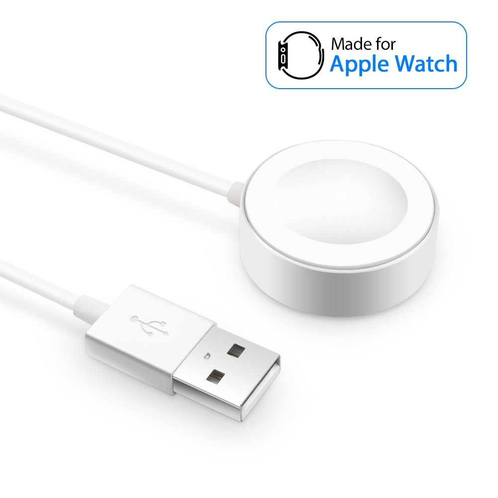 【Integrated Magnetic Technology】: Magnetic attraction adsorbs Apple Watch automatically and then into induction charging.