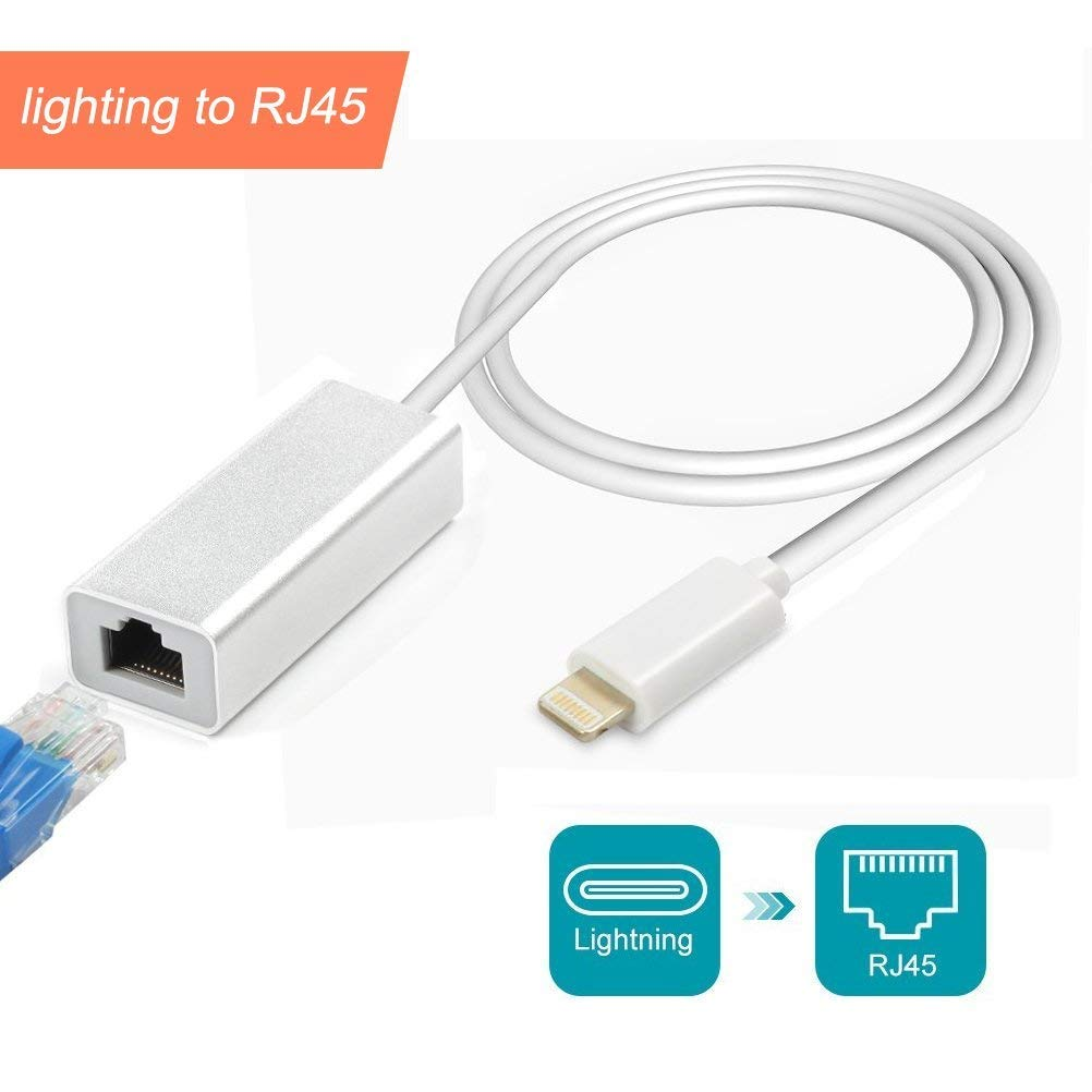 ♥ Innovative Design: RJ45 Ethernet LAN network adapter is specially designed and used for Phone and Pad.